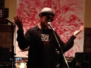 Miz Meliz at the Urban Desert Cabaret in Hollywood