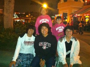 Miz Meliz and cousins at Downtown Disney