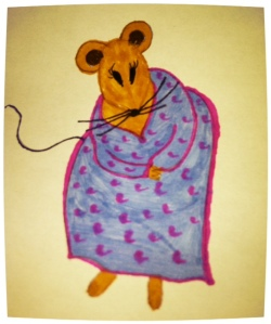 Melissa the Mouse Drawing and Photograph by Melissa Reyes Copyright 2013 http://mizmeliz.com