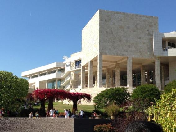 View of the Getty Center from the gardens