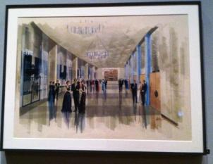 Dorothy Chandler Pavillion, painting at the Getty Center Exhibit