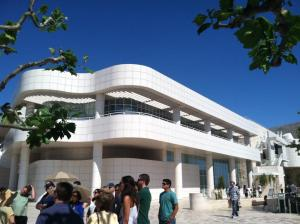 On the architectural tour at the Getty Center
