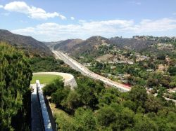 View of the 405 Frwy from the Getty Center