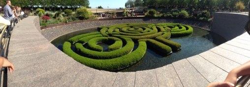 Azalea labyrinth at the Getty Center