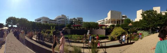 Panoramic View of the Getty Center from the gardens.